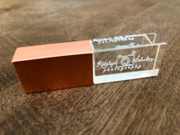 Crystal USB - copper cap