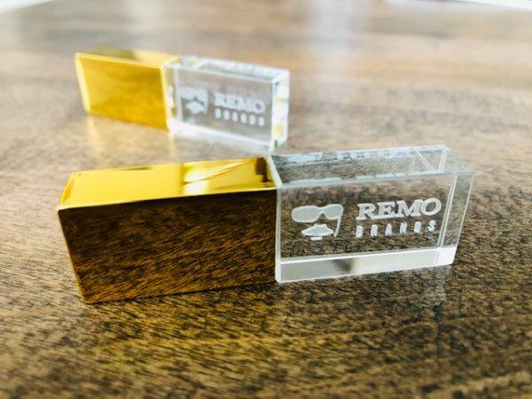 Crystal USB - gold
