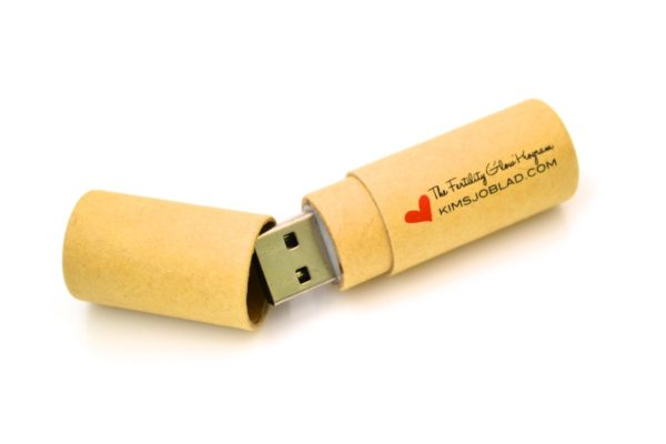 Kraft Paper USB – WU8 – Recycled Cardboard Flash Drive