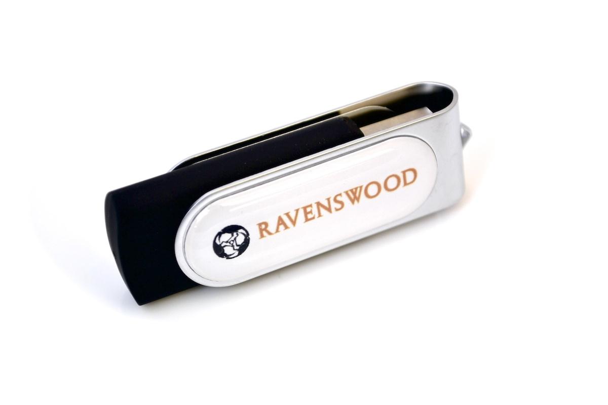 Swivel USB with Domed Logo - UC10